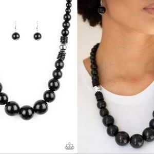 Oversized Bead Necklace Set - Fashion Accessories